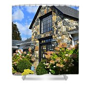 Stone Building In Connecticut Shower Curtain