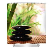 Stone Cairn Shower Curtain
