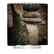 Stone Cairns IIi Shower Curtain