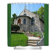 Stone Church Shower Curtain
