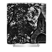 Stone Church In Black And White Shower Curtain