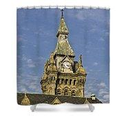 Stone Clock Tower Shower Curtain