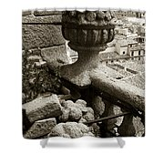 Stone Embellishments Of Jesuits Church Shower Curtain