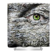 Stone Face Shower Curtain