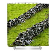 Stone Fences In Ireland Shower Curtain
