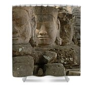 Stone Figures Cambodia Shower Curtain