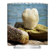 Stone Heart  Shower Curtain