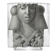 Stone Idol Of The Rain God Cocijo Shower Curtain