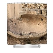 Stone Jar At Temple Of Apollo Shower Curtain