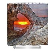 Stone Lagoon Sunset Shower Curtain