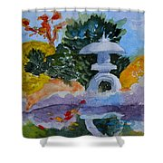 Stone Lantern Shower Curtain