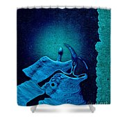 Stone Men 29 C02c - Love Rythm Shower Curtain