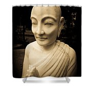 Stone Monk Shower Curtain