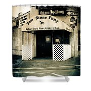 Stone Pony Shower Curtain