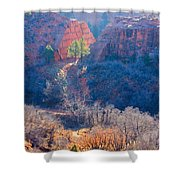Stone Quarry At Red Rocks Open Space Shower Curtain