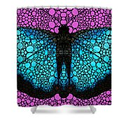Stone Rock'd Butterfly 2 By Sharon Cummings Shower Curtain