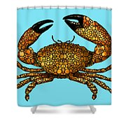 Stone Rock'd Stone Crab By Sharon Cummings Shower Curtain