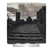 Stone Ruins At Old Liberty Park - Spokane Washington Shower Curtain by Daniel Hagerman