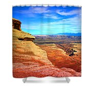 Stone - Sky - Colour Shower Curtain