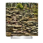 Stone Spring At Woodward Park 1 Shower Curtain