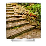 Stone Stairs Shower Curtain