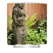 Stone Statue In Bali Indonesia  Shower Curtain