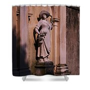 Stone Statue Woman  Shower Curtain