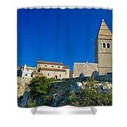 Stone Town Of Lubenice In Croatia Shower Curtain