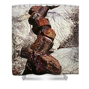 Stone Trees - 337 Shower Curtain