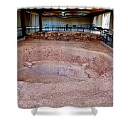 Stone Village-850 Ad In A Protective Shelter On The Mesa Top In Mesa Verde National Park-colorado Shower Curtain