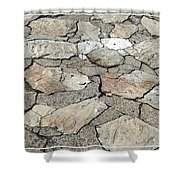 Stone Walkway At Old Fort Niagara Shower Curtain