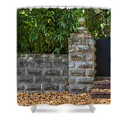 Stone Wall And Gate Shower Curtain
