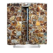 Stone Wall-small Window Shower Curtain