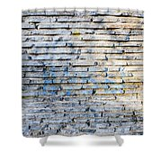 Stone Wall Texture Shower Curtain