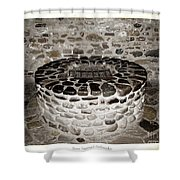 Stone Well At Old Fort Niagara Shower Curtain