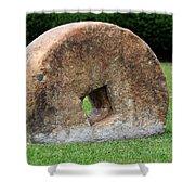 Stone Wheel Shower Curtain