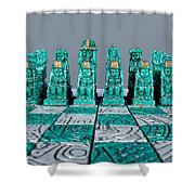 Stoned On Chess Shower Curtain