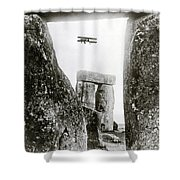 Stonehenge 1914 Shower Curtain