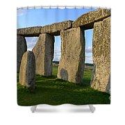Stonehenge And Shadows Shower Curtain