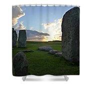 Stonehenge At Dusk Shower Curtain