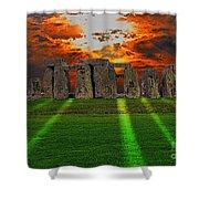 Stonehenge At Solstice Shower Curtain by Skye Ryan-Evans