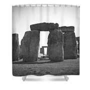 Stonehenge In Black And White Shower Curtain