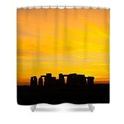 Stonehenge Sunset Shower Curtain
