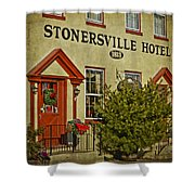 Stonersville Hotel Shower Curtain