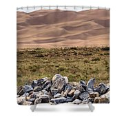 Stones And Sand Shower Curtain