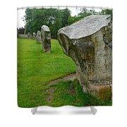 Stones At Avebury Shower Curtain