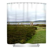 Stones In Arc Of Ring Of Brodgar Shower Curtain