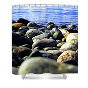 Stones To Admire Shower Curtain