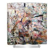 Stones With A Heart   Ears Of The Wall Shower Curtain