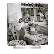 Stonetown Market Shower Curtain